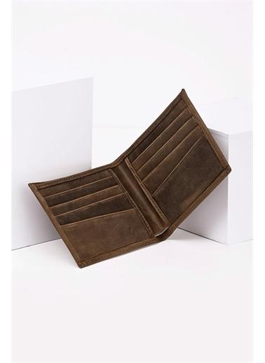 Deri Company Erkek Ki (Gerçek) Deri Kartlıklı Cüzdan Antik 113522 Kahve